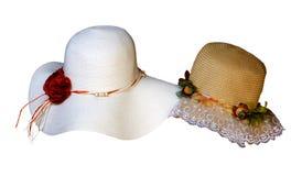 Forma do estilo antigo da senhora Hat Fotografia de Stock