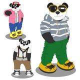 Forma do estilo de vida da panda ilustração do vetor