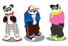 Forma do estilo de vida da panda ilustração stock