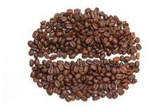 Forma do feijão de café do ina dos feijões de café Foto de Stock Royalty Free