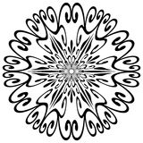 Forma do floco de neve Imagens de Stock Royalty Free
