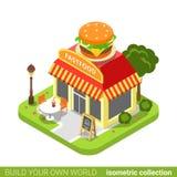 Forma do hamburguer da loja do café do restaurante do jantar do fast food Imagens de Stock