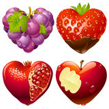 Forma do jogo 2 do coração Imagem de Stock Royalty Free