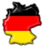 Forma do mapa da bandeira da tecla de Alemanha Imagens de Stock Royalty Free