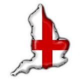 Forma do mapa da bandeira da tecla de Inglaterra Imagem de Stock