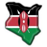 Forma do mapa da bandeira da tecla de Kenya ilustração royalty free
