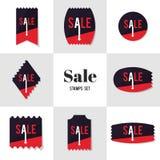 Forma do polígono da coleção e selo postal da venda da seta Foto de Stock Royalty Free