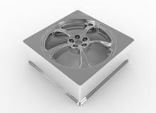 Forma do quadrado da roda de carro Imagem de Stock