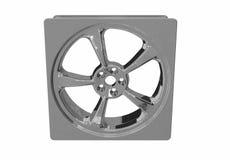 Forma do quadrado da roda de carro Fotografia de Stock Royalty Free