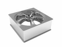 Forma do quadrado da roda de carro Fotos de Stock