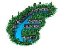 Forma do sinal do Euro do waterhole ilustração royalty free