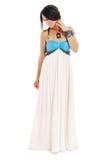 Forma do vestido da mulher Fotografia de Stock
