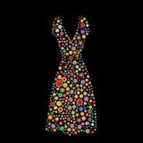 Forma do vestido das mulheres ilustração do vetor