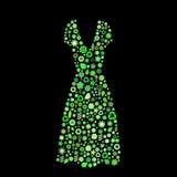 Forma do vestido das mulheres Fotografia de Stock Royalty Free