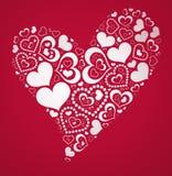 Forma dos corações Imagens de Stock