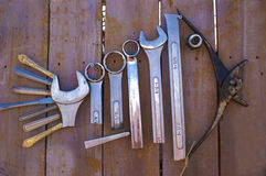 Forma dos peixes feita com ferramentas Imagens de Stock Royalty Free