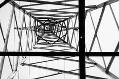 Forma elettrica del palo qui sotto Immagine Stock Libera da Diritti