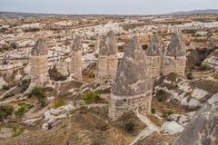 Forma??es de rocha em Capapdocia, Turquia imagens de stock