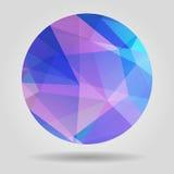 Forma esférica colorida geométrica abstracta del fac triangular ilustración del vector