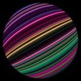 Forma esférica com listras coloridas Foto de Stock Royalty Free