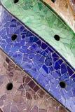 Forma espiral decorativa coloreada de las tejas fotografía de archivo