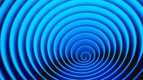 Forma espiral dos círculos azuis, ilusão ótica Teste padrão abstrato foto de stock