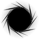 Forma espiral nerviosa geométrica Remolino, vórtice con concent texturizada stock de ilustración