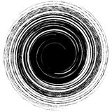 Forma espiral nervosa geométrica Redemoinho, redemoinho com concent textured ilustração do vetor