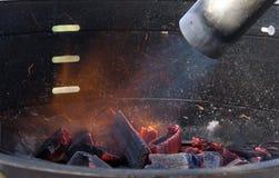 Forma facil ligar o BBQ Imagem de Stock Royalty Free