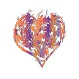 Forma feliz do coração ilustração do vetor