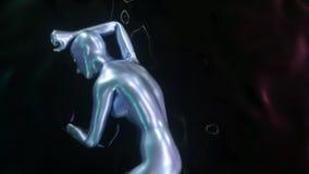 forma femenina abstracta 4K almacen de metraje de vídeo