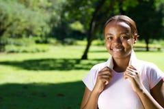 Forma fisica africana della donna Fotografia Stock
