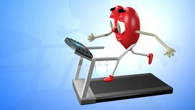 Forma fisica cardiovascolare stock footage