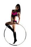 Forma fisica con il cerchio di sport fotografie stock libere da diritti