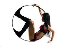 Forma fisica con il cerchio di sport fotografie stock
