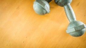 Forma fisica della testa di legno Fotografia Stock
