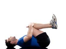 Forma fisica di allenamento di addestramento del peso di esercitazione dell'uomo Fotografia Stock Libera da Diritti