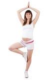 Forma fisica di gravidanza Fotografie Stock Libere da Diritti