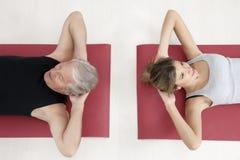 Forma fisica e yoga Immagine Stock Libera da Diritti