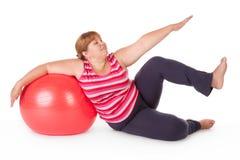 Forma fisica grassa della donna Fotografia Stock Libera da Diritti