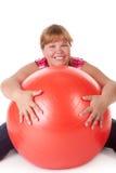 Forma fisica grassa della donna Immagini Stock