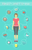 Forma fisica Infographics della donna Fotografia Stock