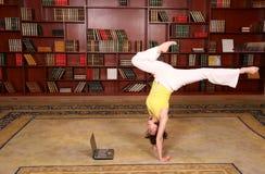 Forma fisica in libreria Fotografia Stock