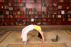 Forma fisica in libreria Fotografie Stock