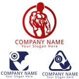 Forma fisica Logo Concept Fotografia Stock Libera da Diritti