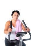 Forma fisica per la donna grassa Immagine Stock Libera da Diritti