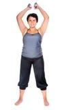 Forma fisica per la donna grassa Immagini Stock
