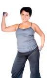 Forma fisica per la donna grassa Fotografia Stock Libera da Diritti