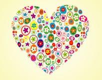Fôrma floral do coração Fotografia de Stock Royalty Free