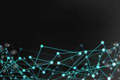 Forma futurista abstrata Gerado por computador Conexão tecnologico ilustração do vetor do fundo da cor escura ilustração stock